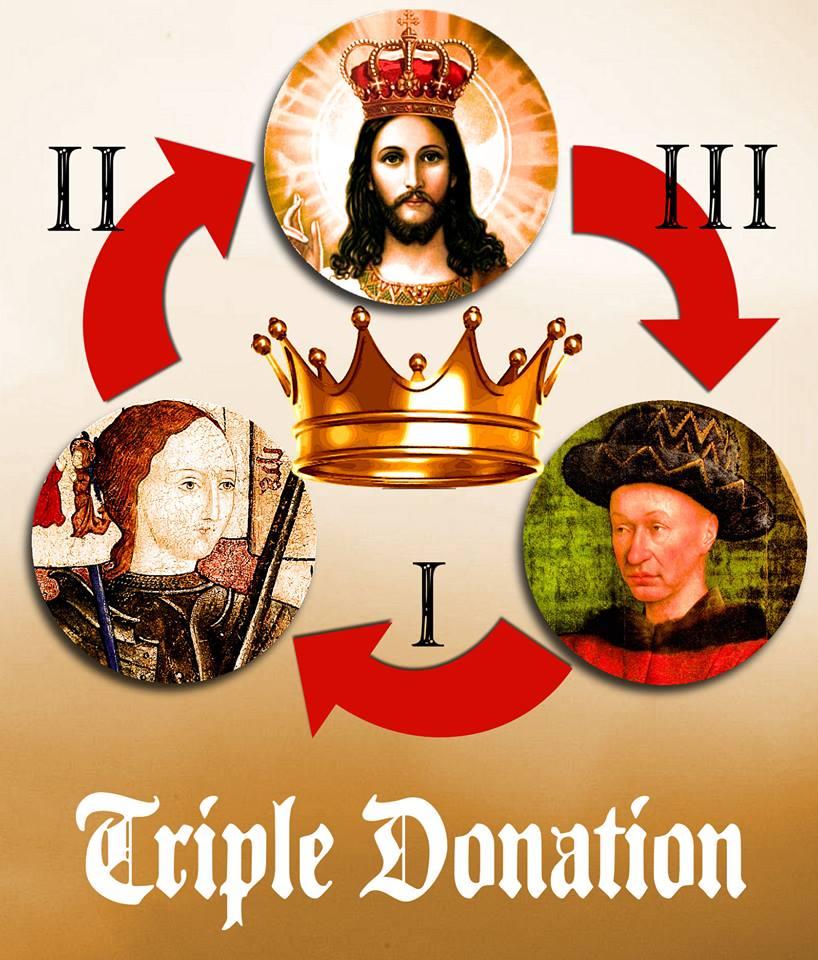 21 juin 1429 la Triple Donation :
