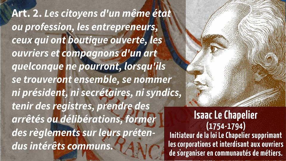 1791, la Révolution contre les travailleurs français :