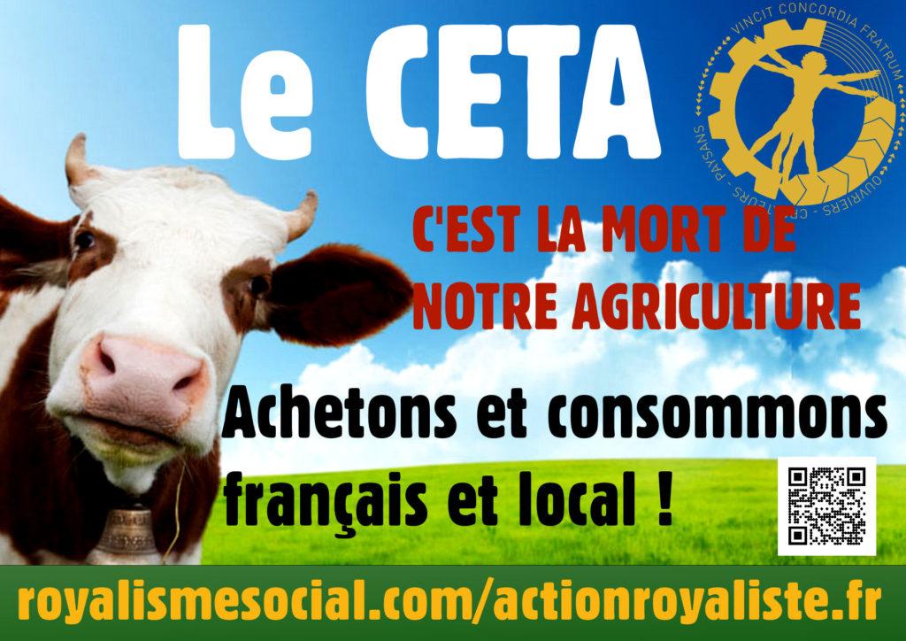 Non au CETA, dangereux pour notre agriculture, notre santé et l'environnement ! :