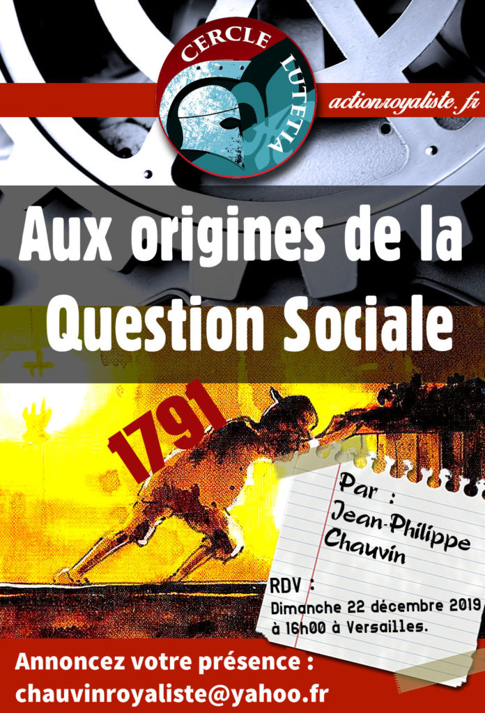 Cercle Lutétia : Aux origines de la Question sociale :